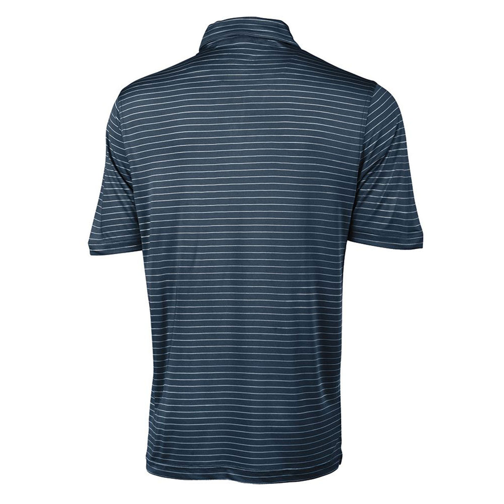 Charles River Men's Navy/white Stripe Wellesley Polo