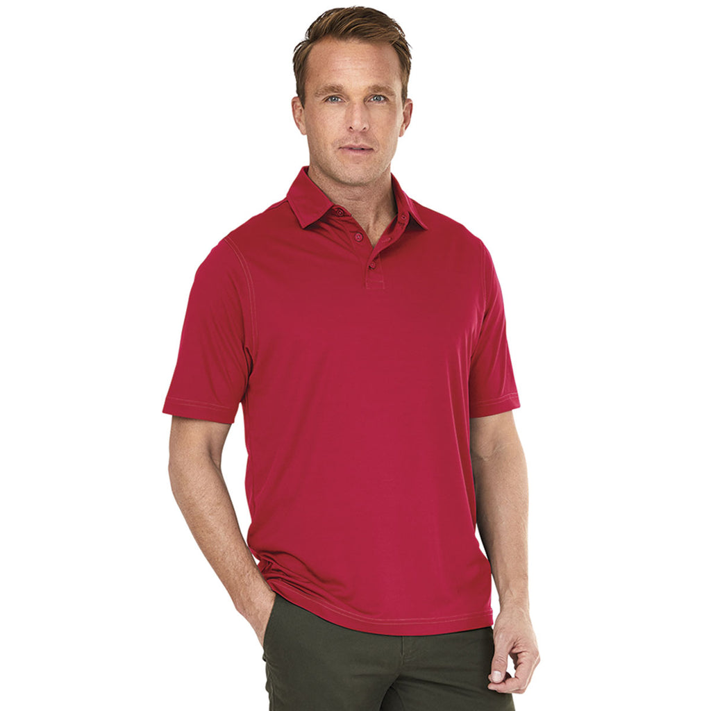 Charles River Men's Red Wellesley Polo