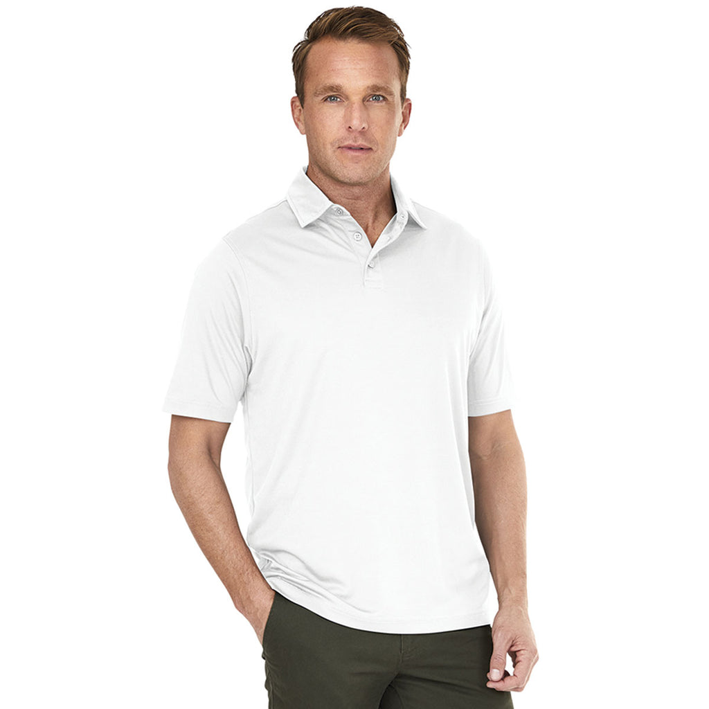 Charles River Men's White Wellesley Polo