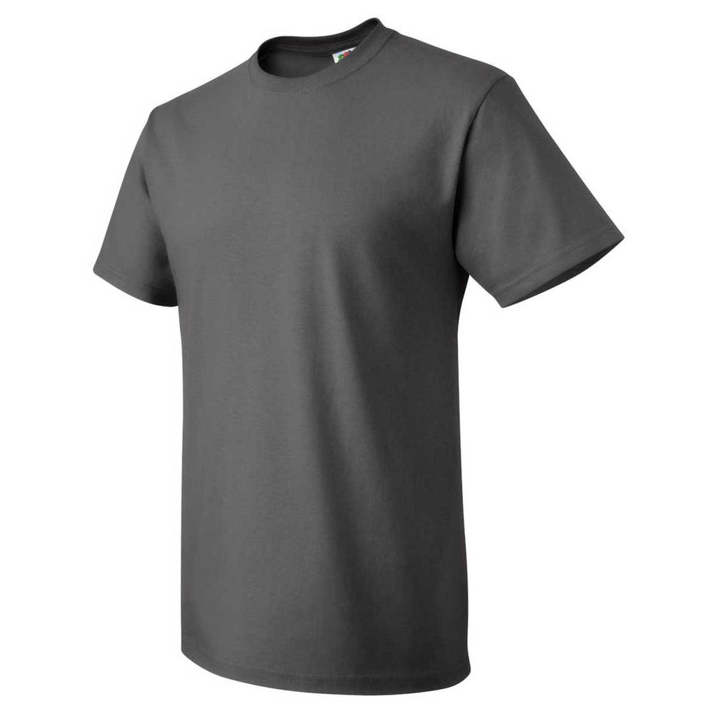 Fruit of the Loom Men's Charcoal Grey HD Cotton Short Sleeve T-Shirt