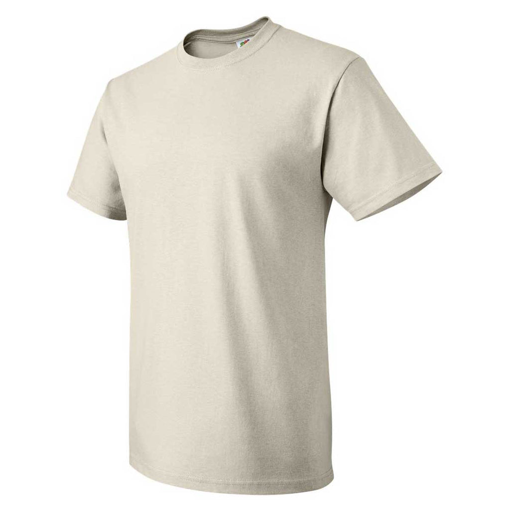 Fruit of the Loom Men's Natural HD Cotton Short Sleeve T-Shirt