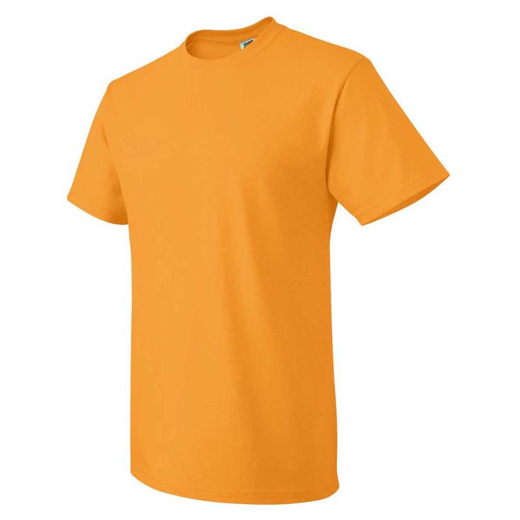 Fruit of the Loom Men's Safety Orange HD Cotton Short Sleeve T-Shirt