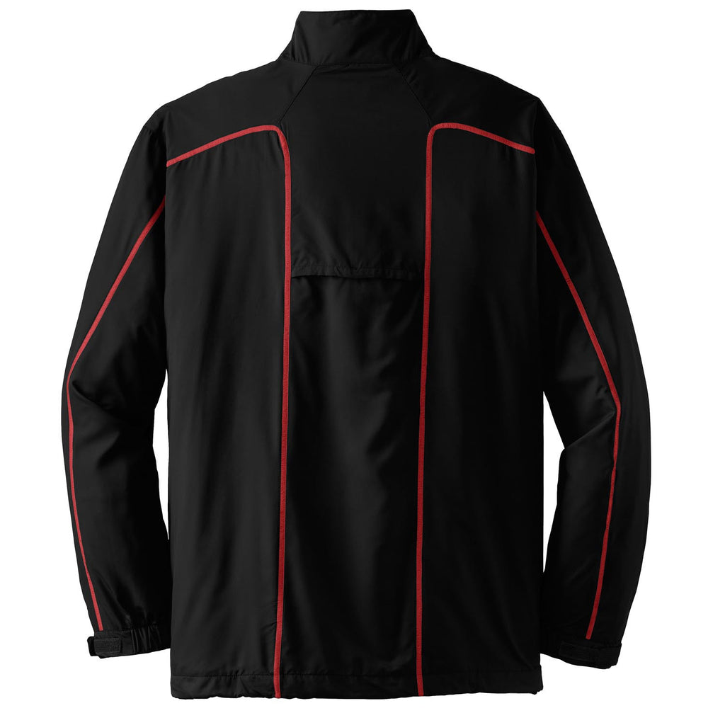 Nike Golf Men's Black/Red Quarter Zip Wind Jacket