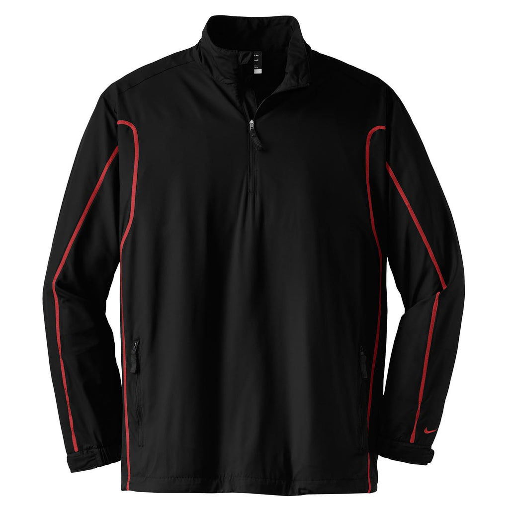 8be940f3a Nike Golf Men's Black/Red Quarter Zip Wind Jacket. ADD YOUR LOGO