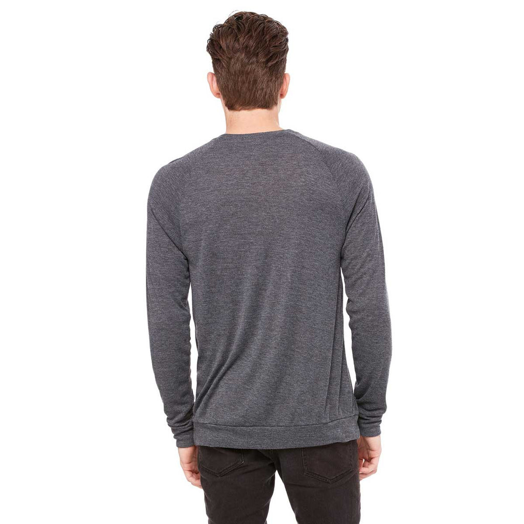 Bella + Canvas Unisex Dark Grey Heather Lightweight Sweater