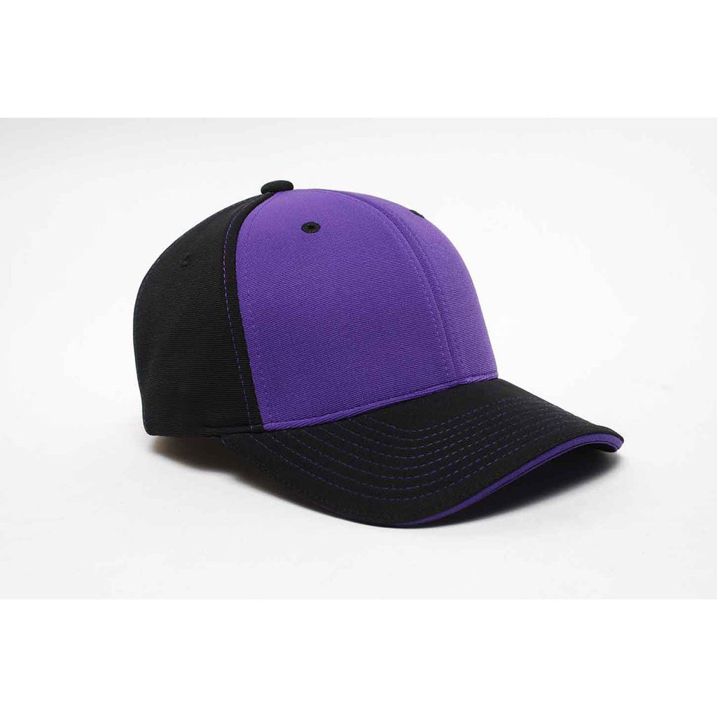 6376c3998 Pacific Headwear Black/Purple Universal M2 Contrast Performance Cap