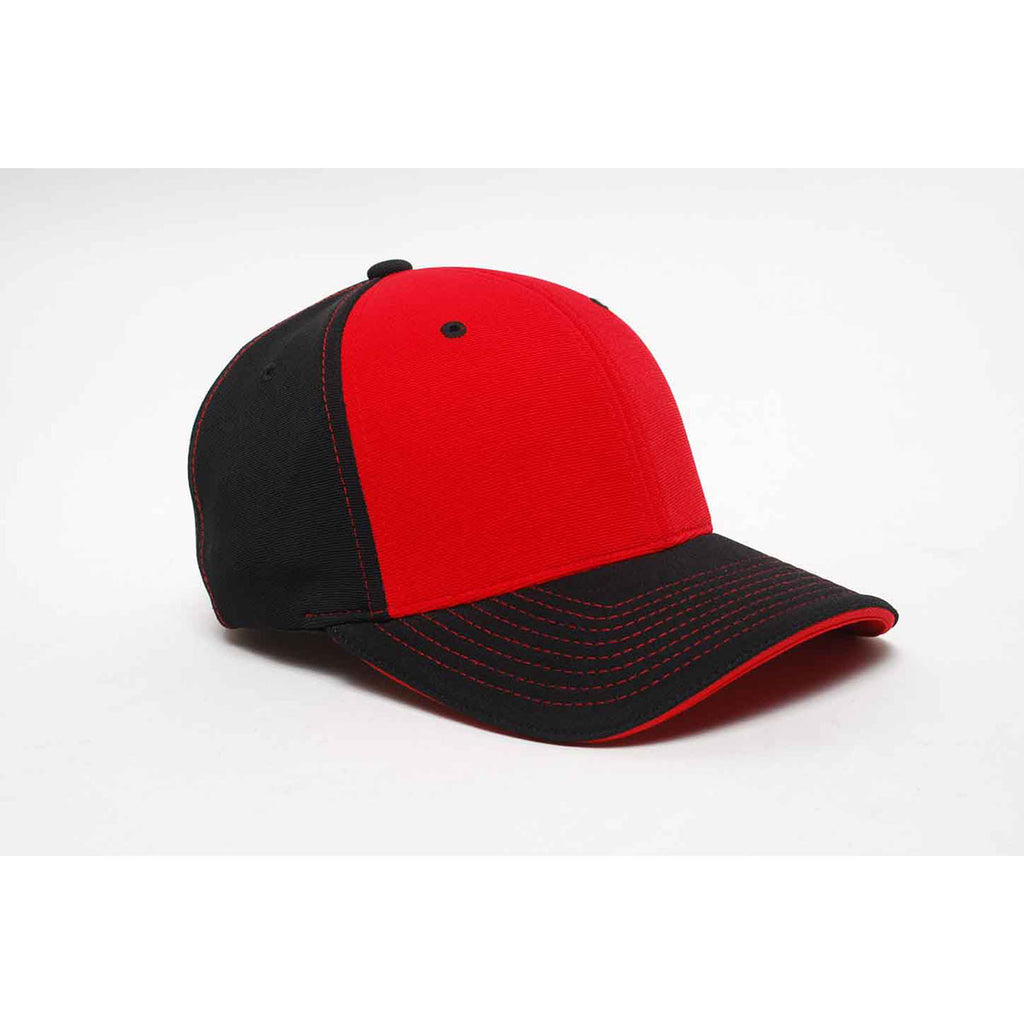 75d4741c9 Pacific Headwear Black/Red Universal M2 Contrast Performance Cap