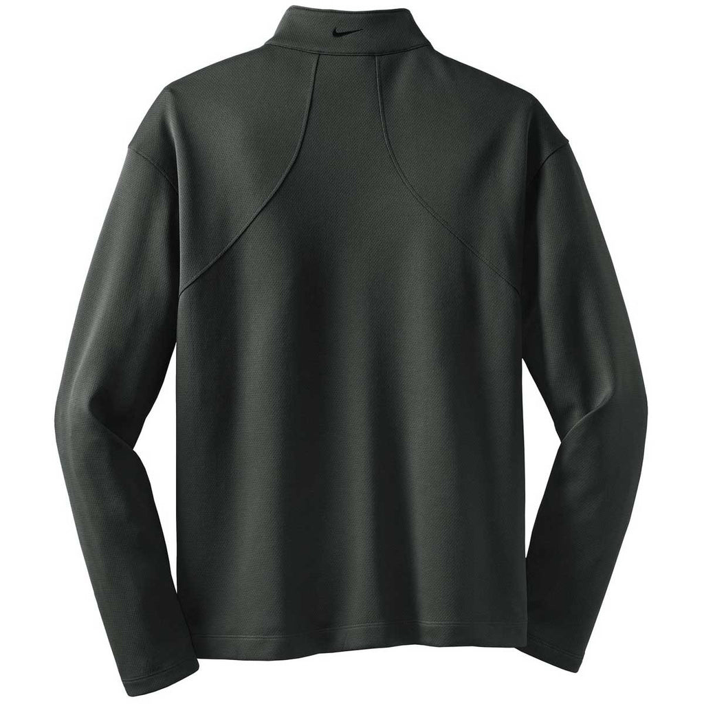 Nike Men's Dark Grey L/S Sport Quarter Zip