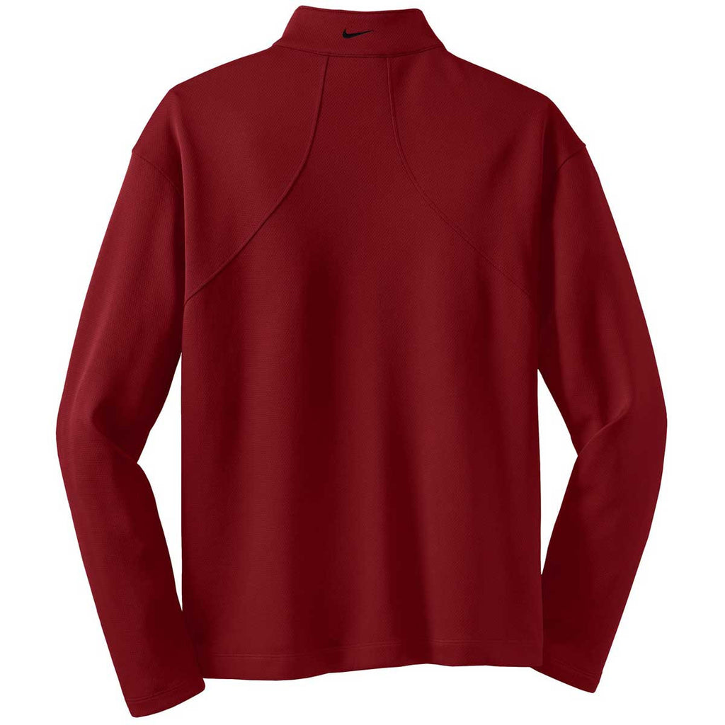 Nike Men's Red L/S Sport Quarter Zip
