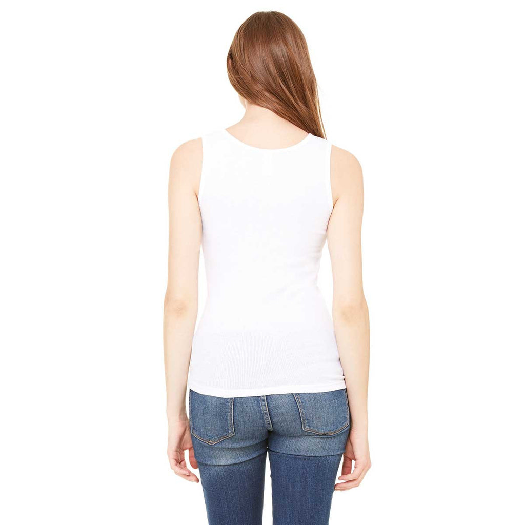 Bella + Canvas Women's White 2x1 Rib Tank