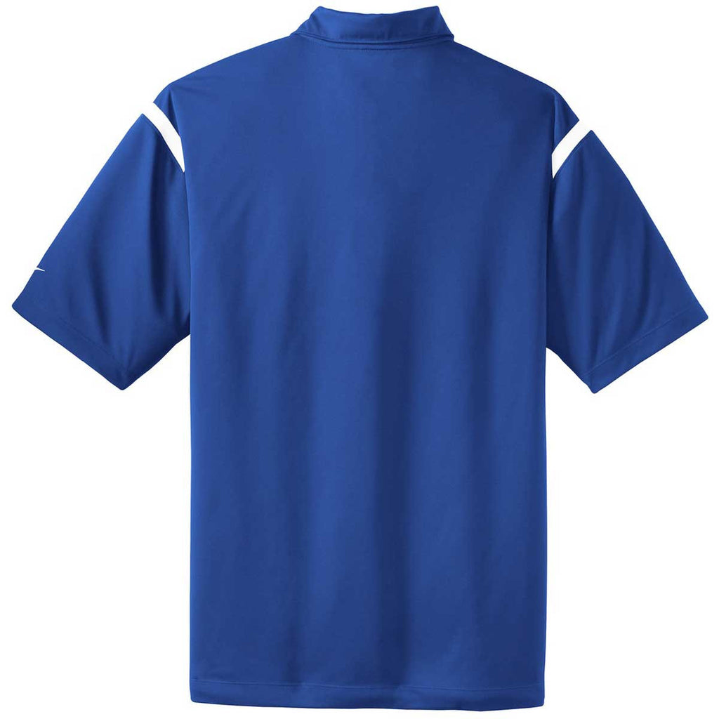 Nike Men's Royal Blue/White Dri-FIT S/S Shoulder Stripe Polo