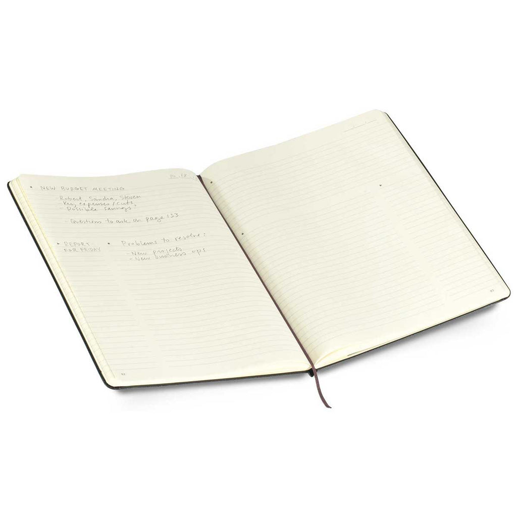 "Moleskine Black Hard Cover Professional Ruled XL Notebook (7.5"" x 10"")"