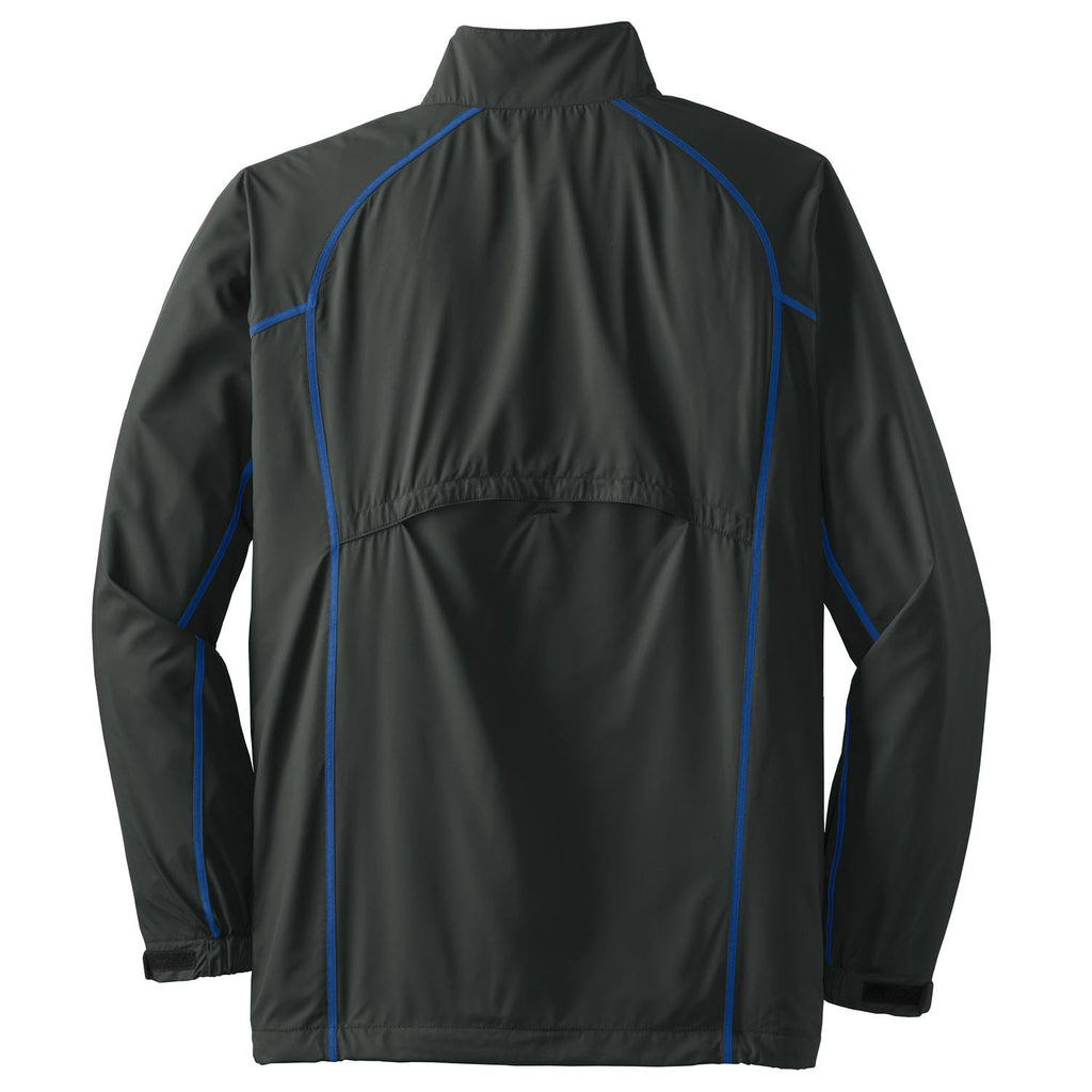 Nike Golf Men's Dark Grey/Royal Blue Full-Zip Wind Jacket