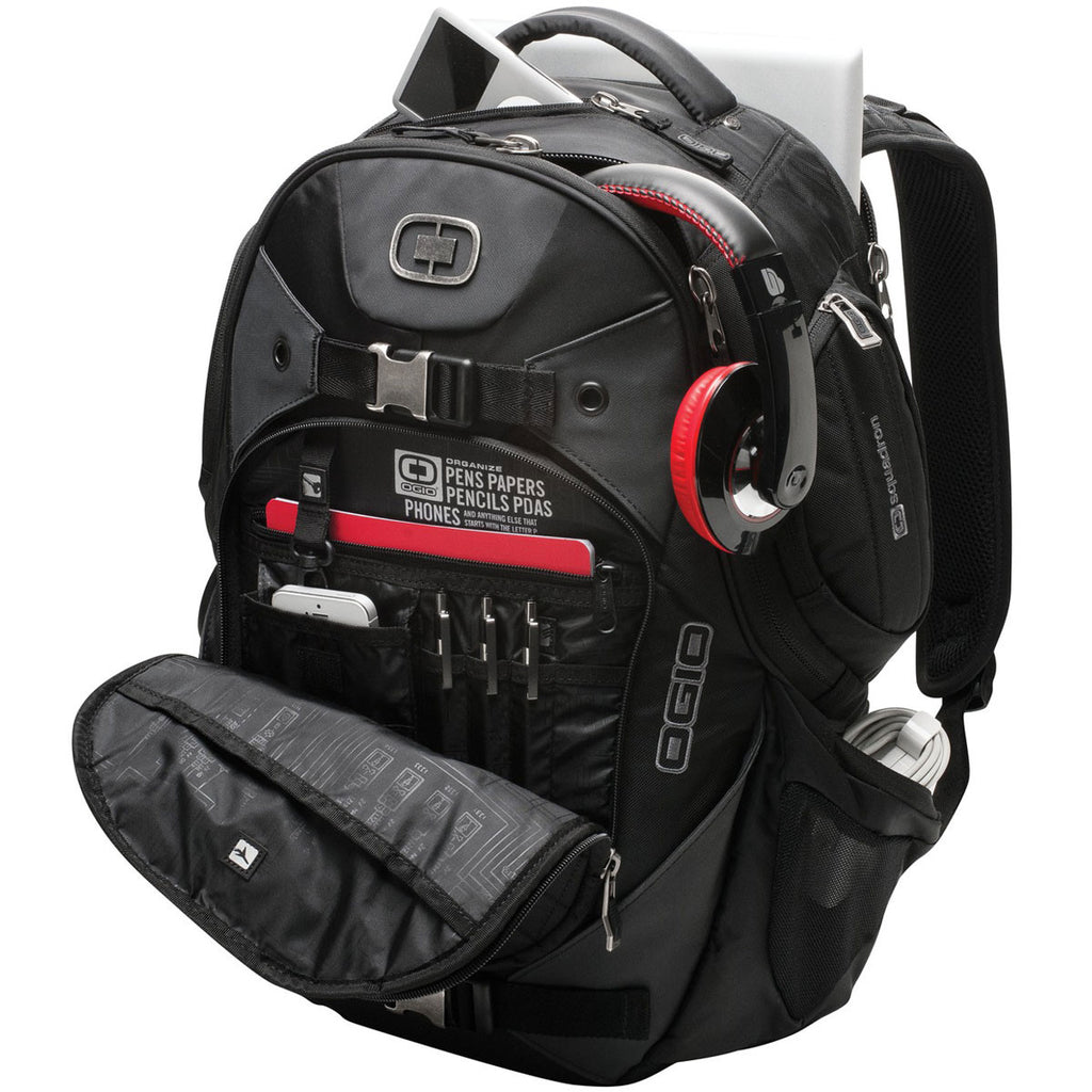 OGIO Black Squadron Backpack
