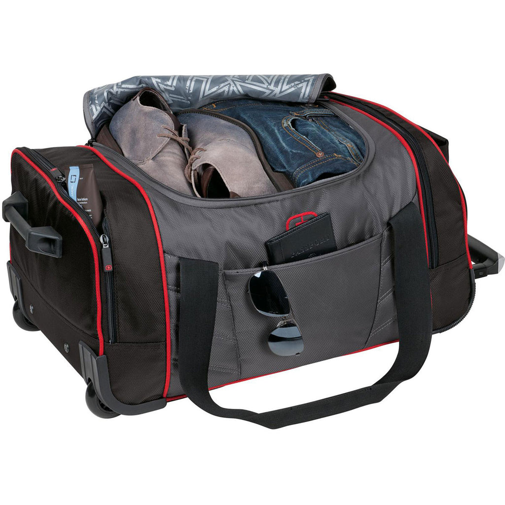 OGIO Diesel Grey/Signal Red Hamblin 22 Wheeled Duffel