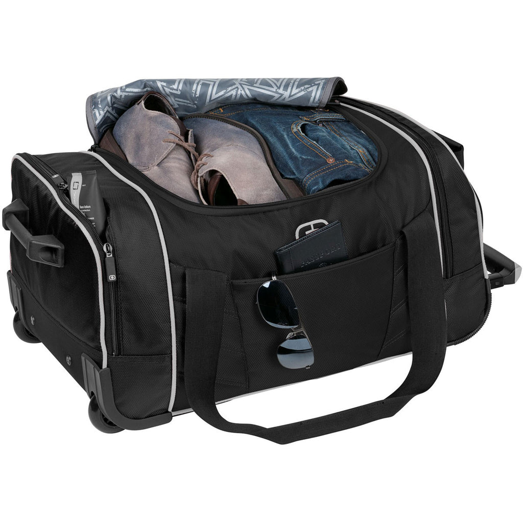 OGIO Black/Silver Hamblin 22 Wheeled Duffel