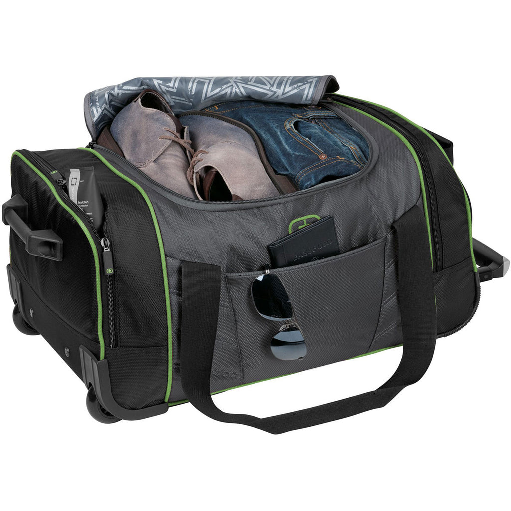 OGIO Diesel Grey/Acid Green Hamblin 22 Wheeled Duffel
