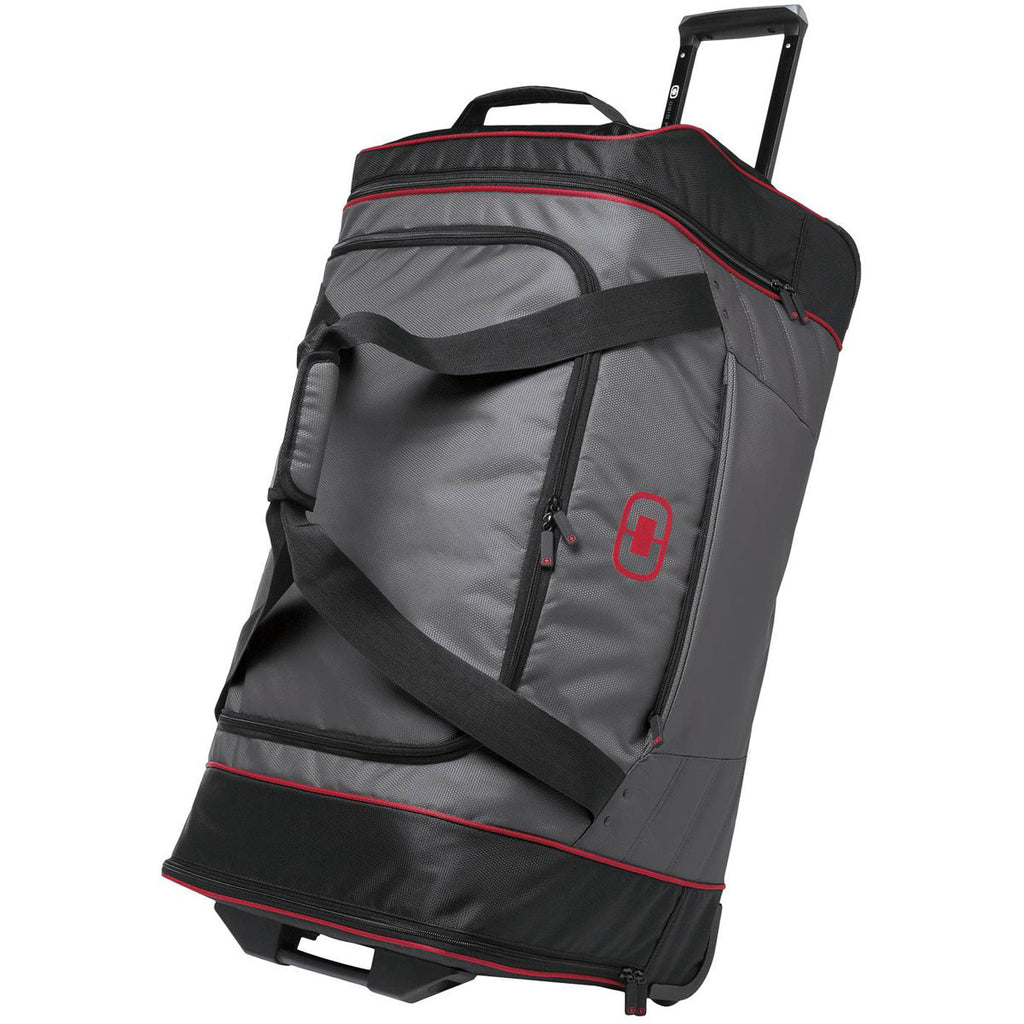 OGIO Diesel Grey/Signal Red Hamblin 30 Wheeled Duffel