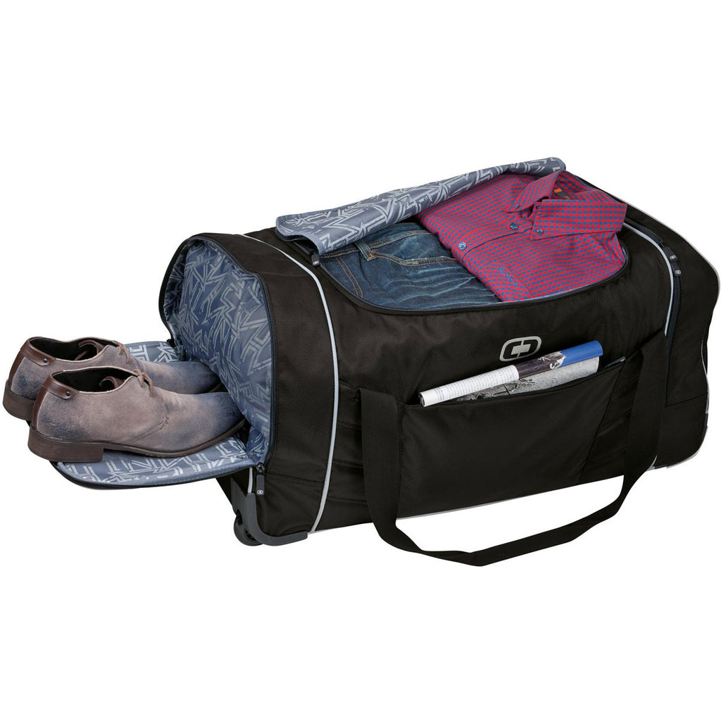 OGIO Black/Silver Hamblin 30 Wheeled Duffel