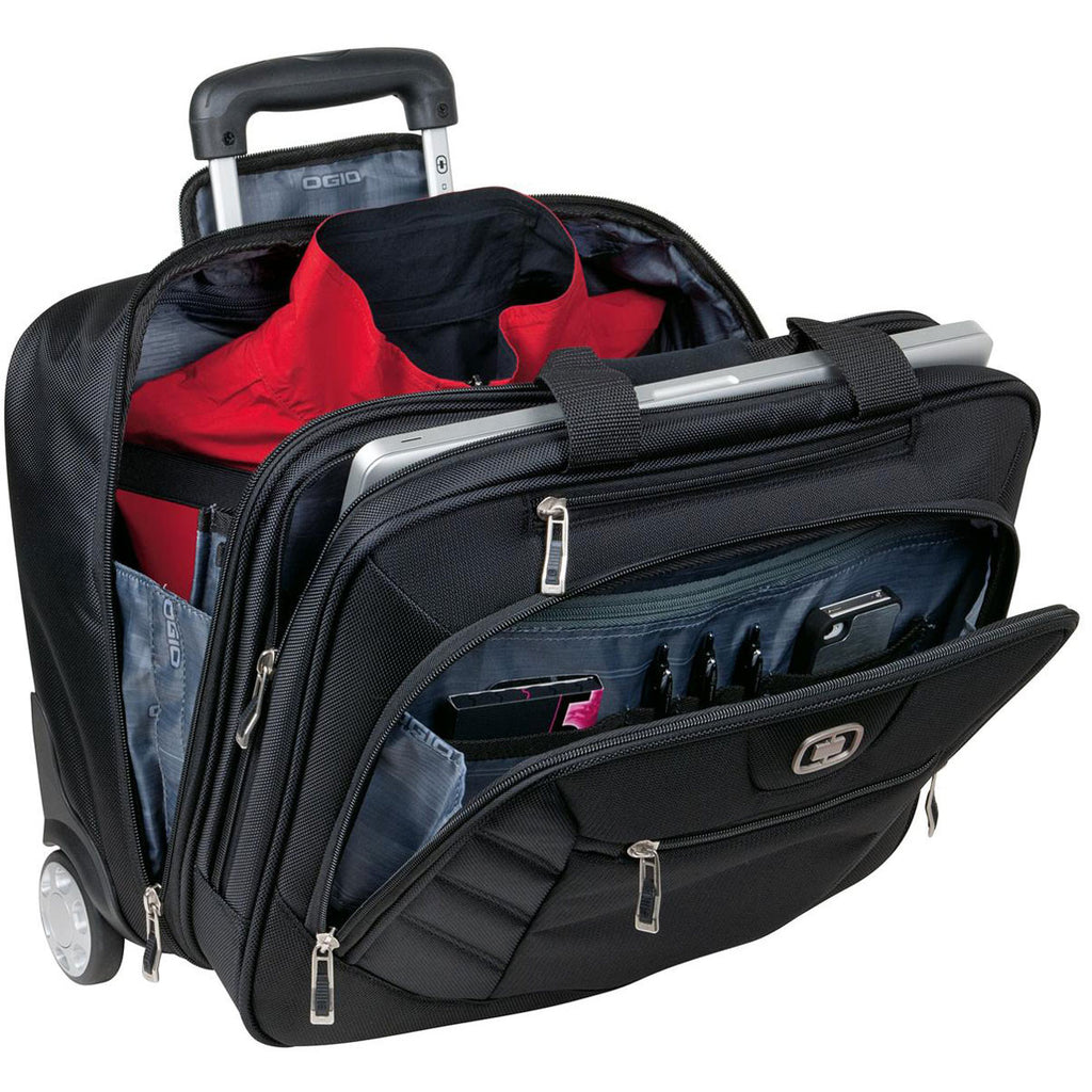 OGIO Black Lucin Wheeled Briefcase