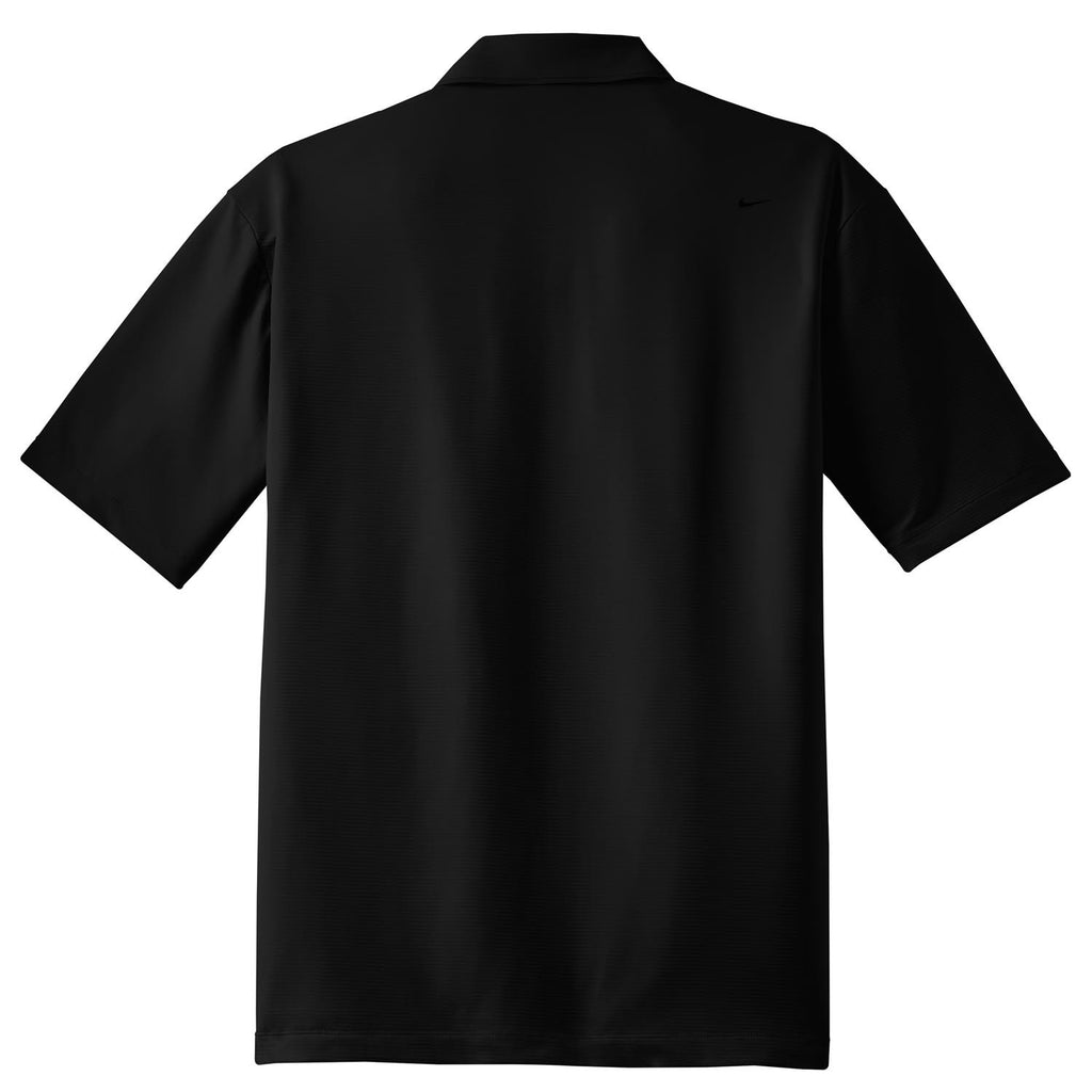 Nike Men's Black Elite Dri-FIT S/S Ottoman Polo
