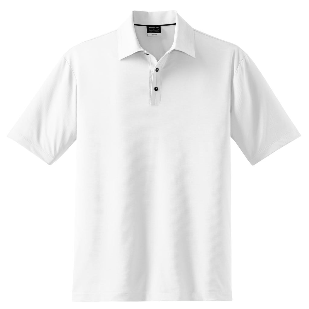 a1fd08da Nike Men's White Elite Dri-FIT S/S Ottoman Polo. ADD YOUR LOGO