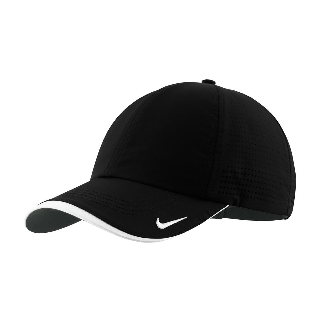 Nike Golf Dri-FIT Black Swoosh Perforated Cap a0a23c57862