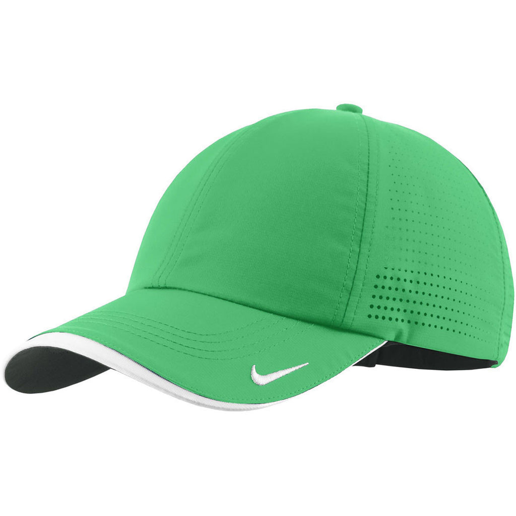 dc654371aa6 Nike Dri-FIT Lucky Green Swoosh Perforated Cap. ADD YOUR LOGO