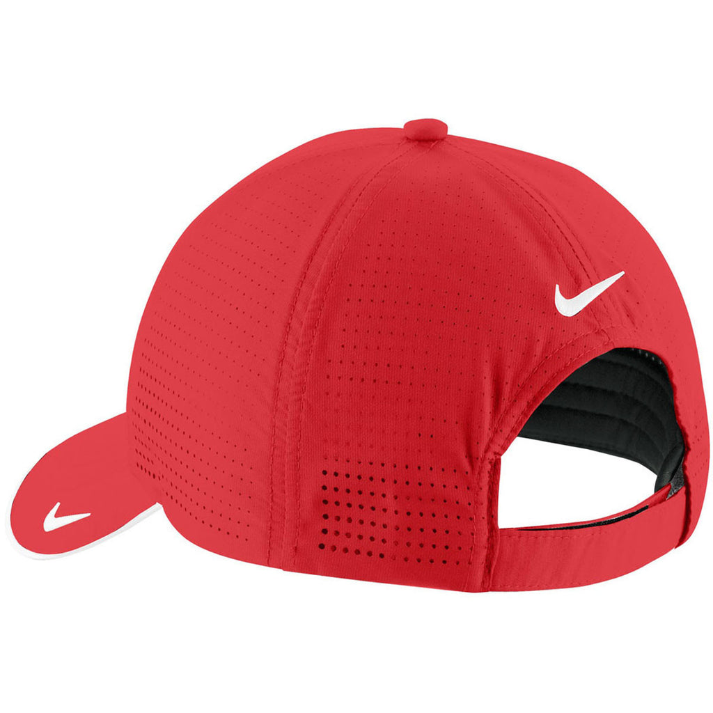Nike Dri-FIT University Red Swoosh Perforated Cap