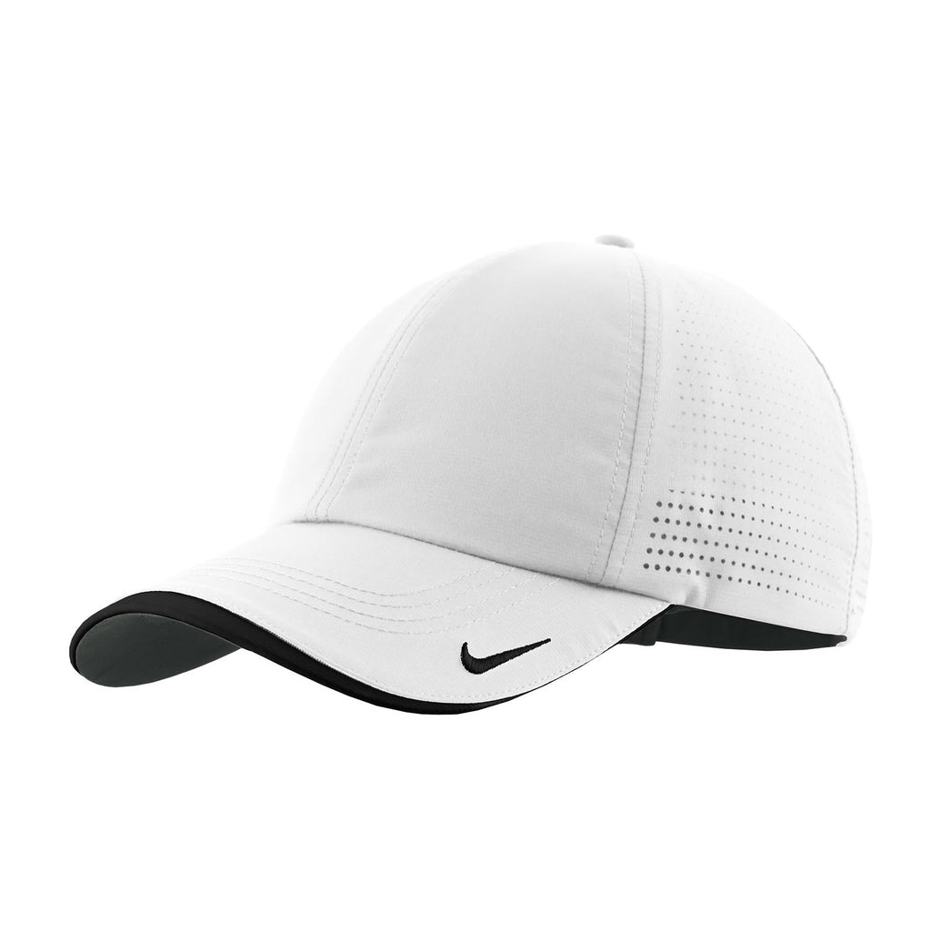 f6926d987d7 Nike Golf White Dri-FIT Swoosh Perforated Cap