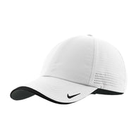 d7b7f3dde09 Nike White Dri-FIT Swoosh Perforated Cap