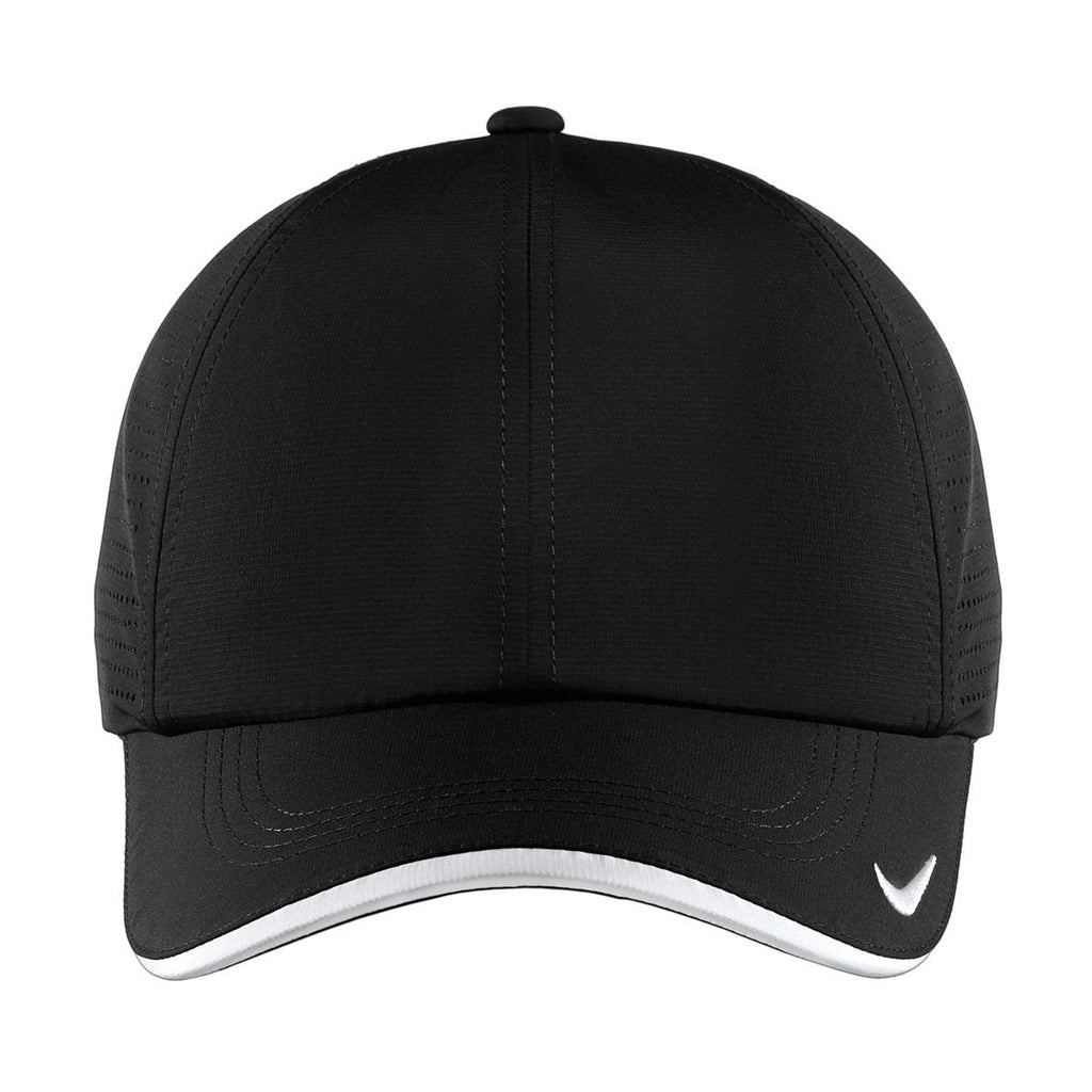 Nike Dri-FIT Black Swoosh Perforated Cap