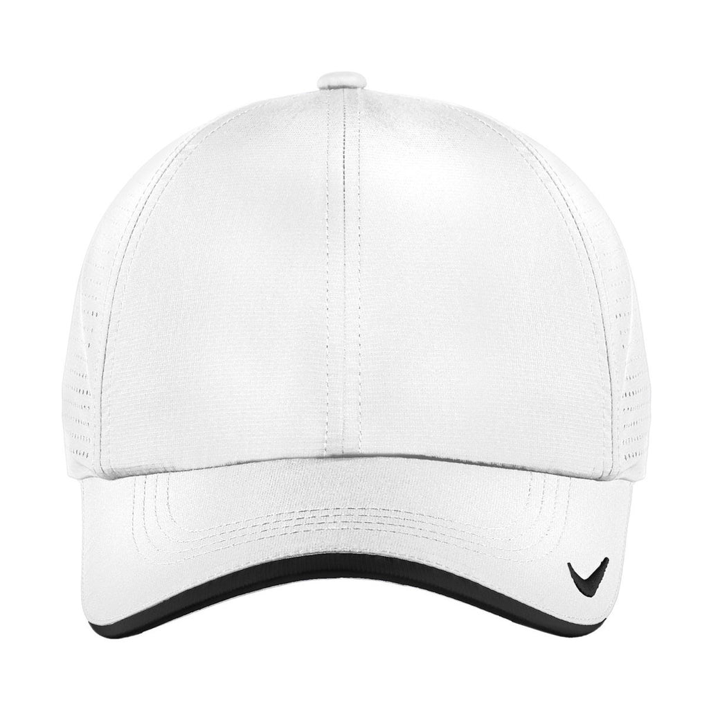 Nike White Dri-FIT Swoosh Perforated Cap