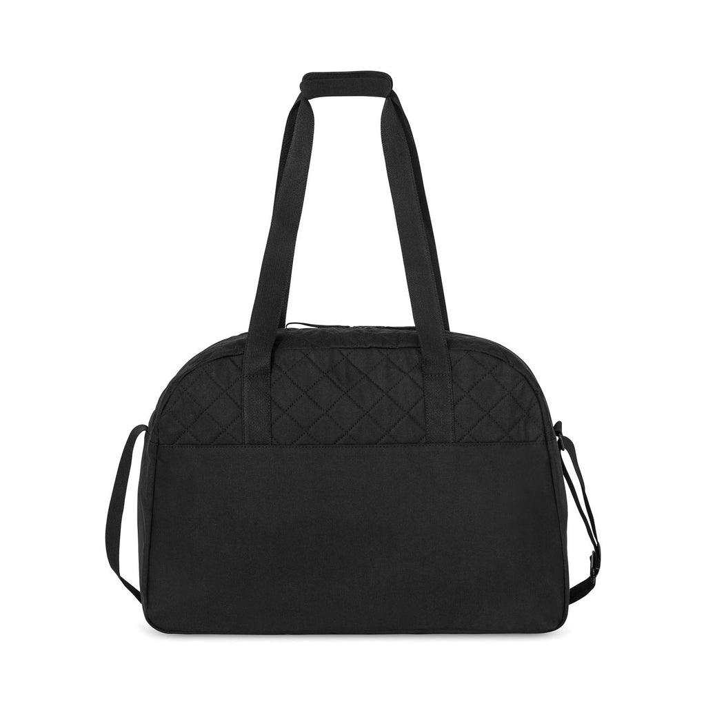 Gemline Black Madeline Quilted Weekender Bag