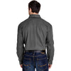 Dri Duck Men's Grey Mason Long-Sleeve Workshirt