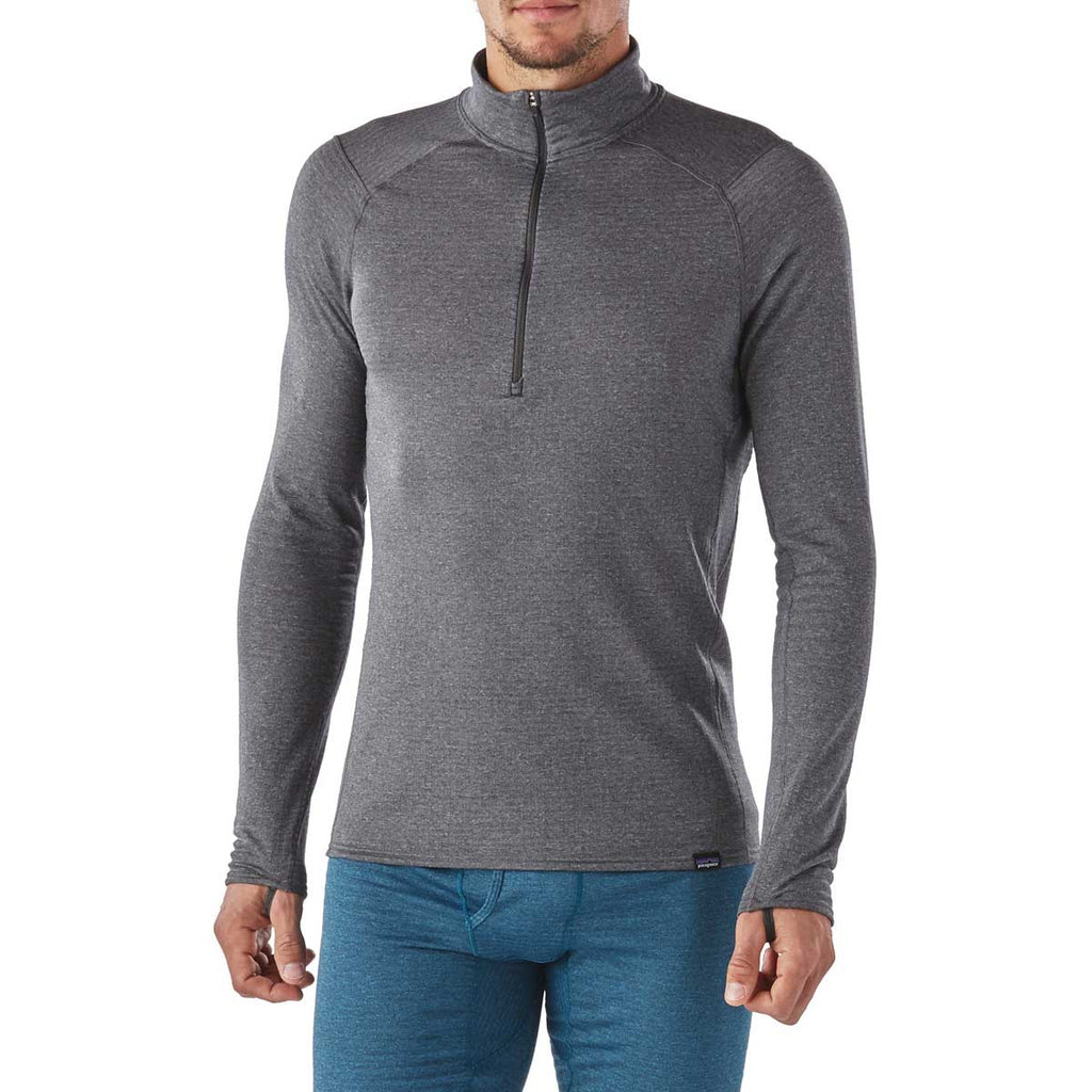 Patagonia Men's Forge Grey Capilene Thermal Weight Zip-Neck