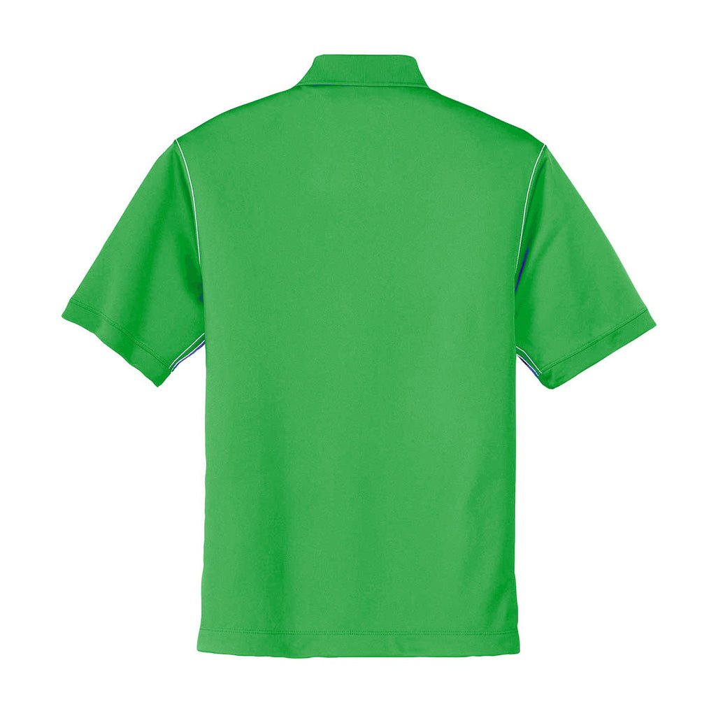 Nike Men's Green Dri-FIT S/S Sport Swoosh Pique Polo