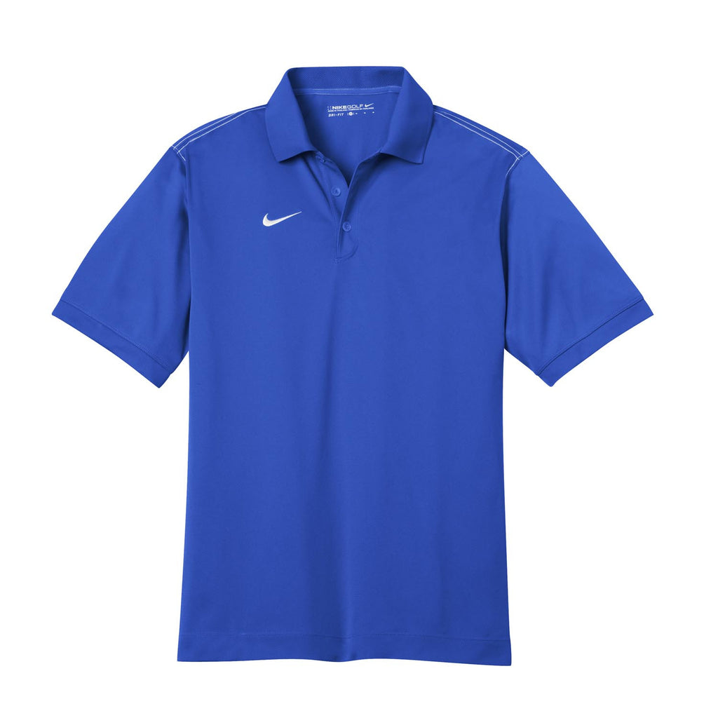 bff2f4903 Nike Men s Blue Dri-FIT Short Sleeve Sport Swoosh Pique Polo. ADD YOUR LOGO