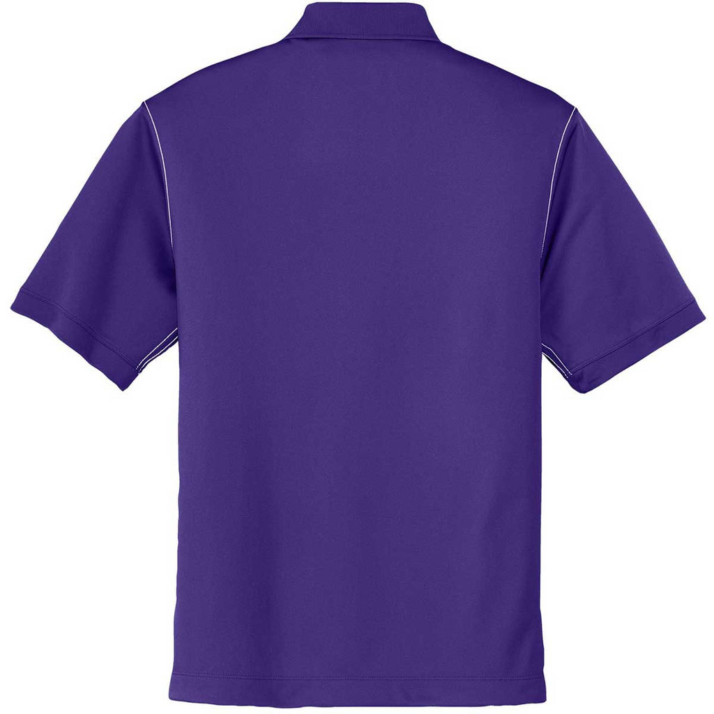Nike Men's Purple Dri-FIT S/S Sport Swoosh Pique Polo