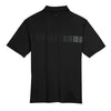 Nike Men's Black Dri-FIT S/S Chest Stripe Print Polo