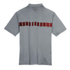 Nike Men's Grey Dri-FIT S/S Chest Stripe Print Polo
