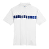 Nike Men's White Dri-FIT S/S Chest Stripe Print Polo