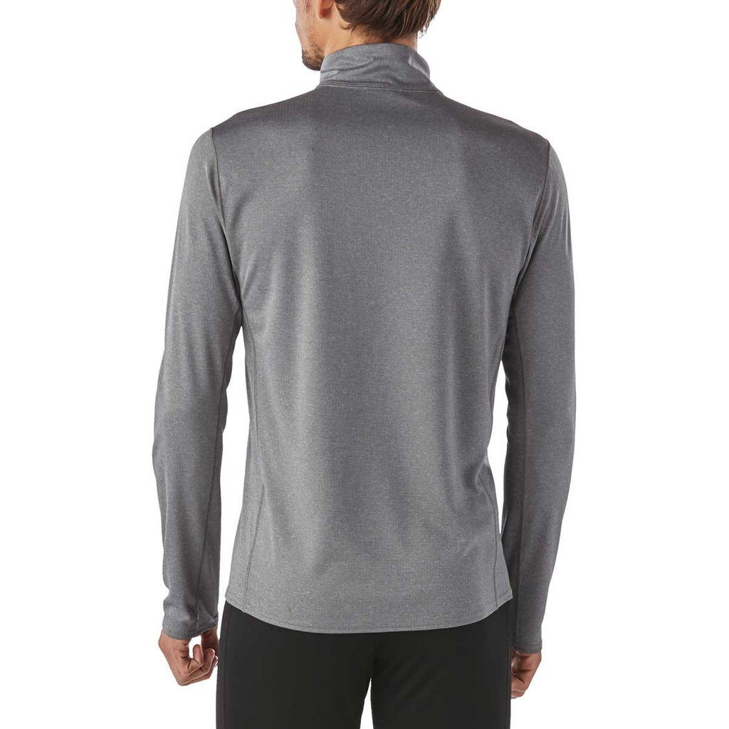 Patagonia Men's Forge Grey Capilene Midweight Zip-Neck