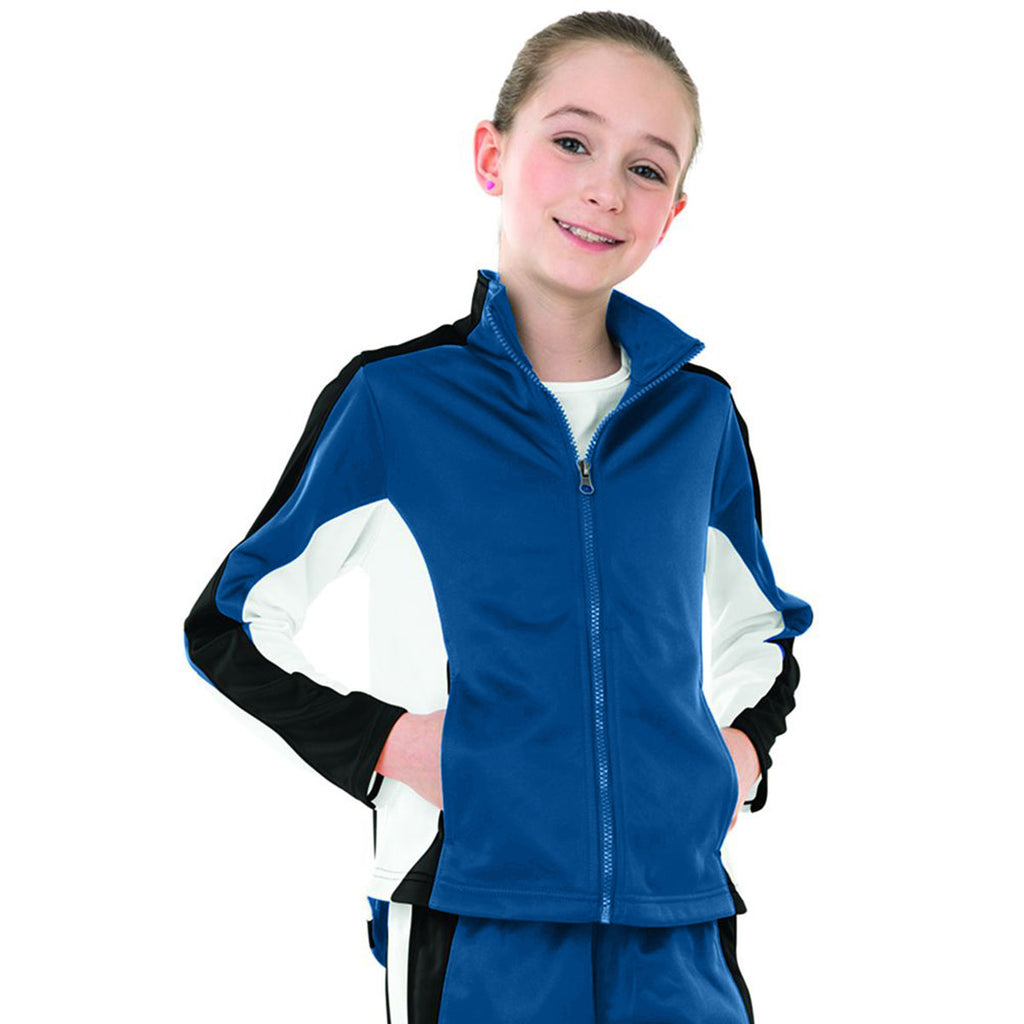 Charles River Girl's Royal/Black/White Energy Jacket