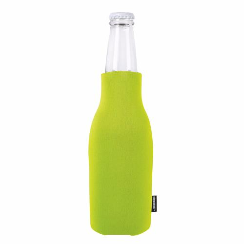 koozie lime zip up bottle kooler with opener. Black Bedroom Furniture Sets. Home Design Ideas