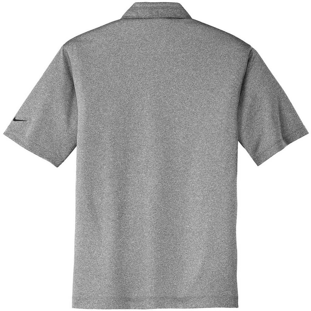 Nike Men's Carbon Grey Dri-FIT Short Sleeve Heather Polo