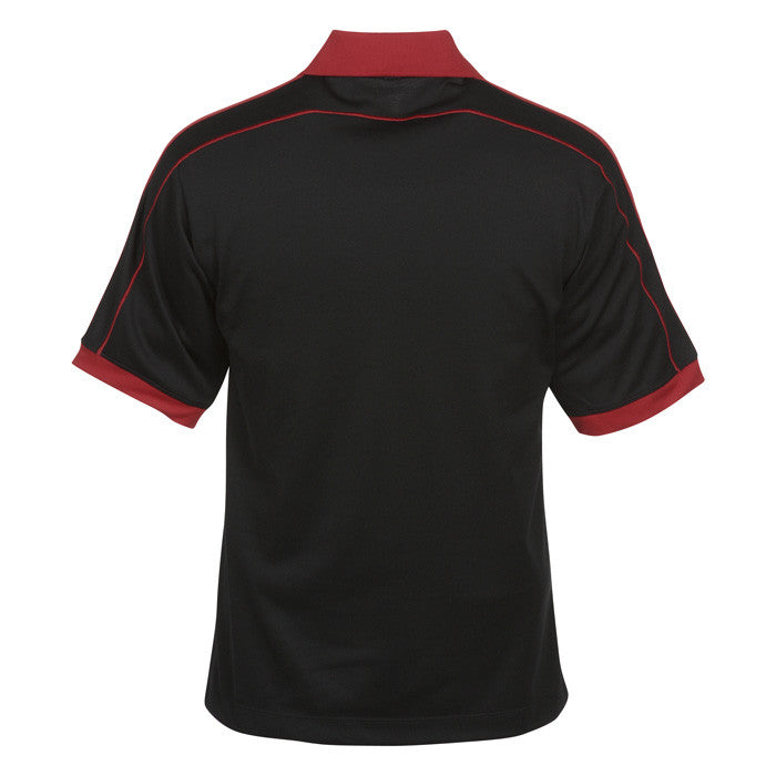 Nike Men's Black/Red Dri-FIT N98 Polo