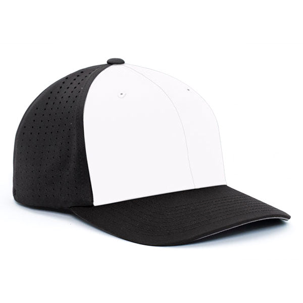 d482f1ce Pacific Headwear Black/White Perforated F3 Performance Cap