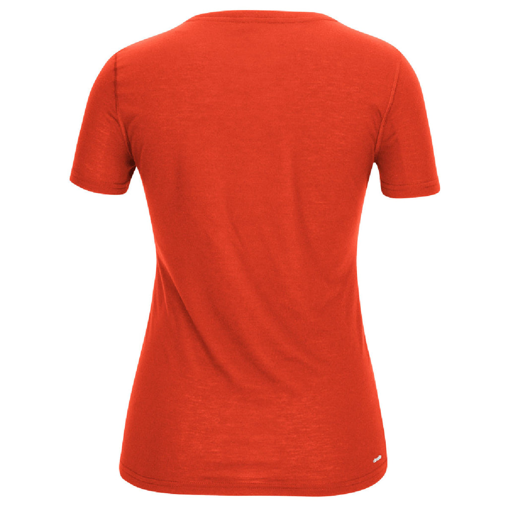 adidas Women's Orange Climalite Ultimate Short Sleeve Tee