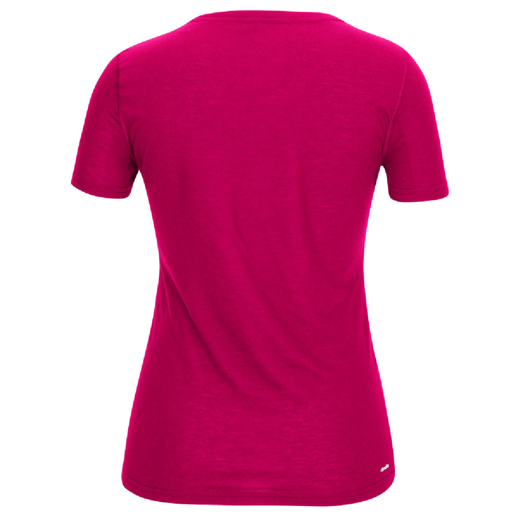 adidas Women's Bold Pink Climalite Ultimate Short Sleeve Tee